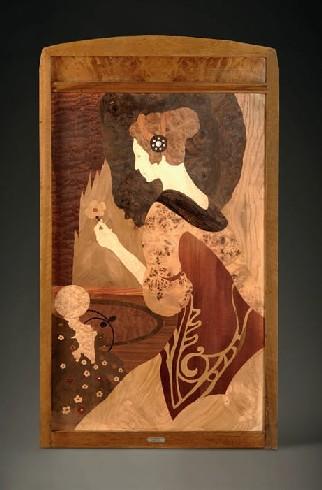 PLAFÓ DE MARQUETERIA. JOAN BUSQUETS I JANÉ c.1904  (120 x 67 x 3,5 cm).