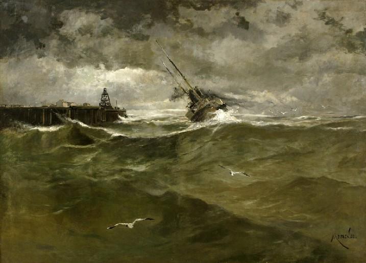 Joan Serra Melgosa (1899-1970). Barcas de pescadores en la playa. Calella de Palafrugell