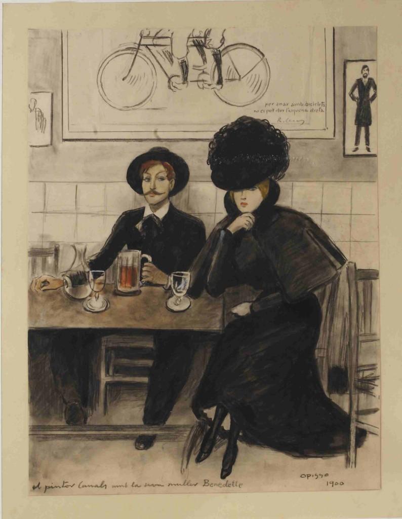 El pintor Canals i la seva muller Bernadette