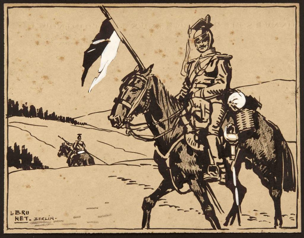 Miembro del regimiento Ulán de caballería-Berlín