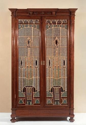 MOBLE DESPATX. FRANCESC VIDAL I JEVELLI c. 1899-1904  (218 x 127 x 42 cm).