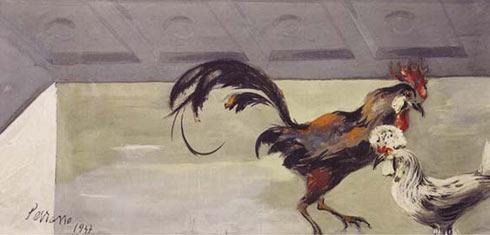 GALLOS DE PELEA. c. 1947.