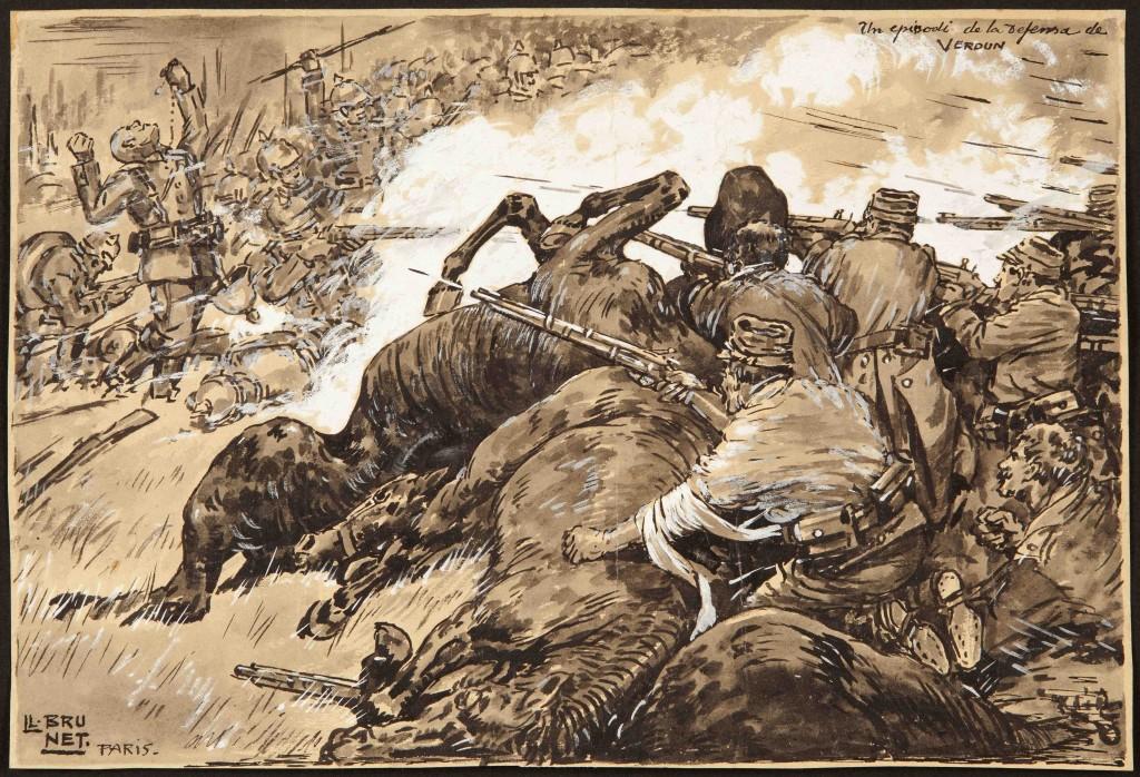 Un episodio de la batalla de Verdún- París
