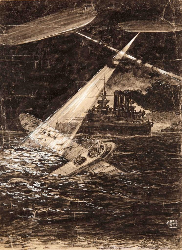 Salvamento de un aparato caído al mar