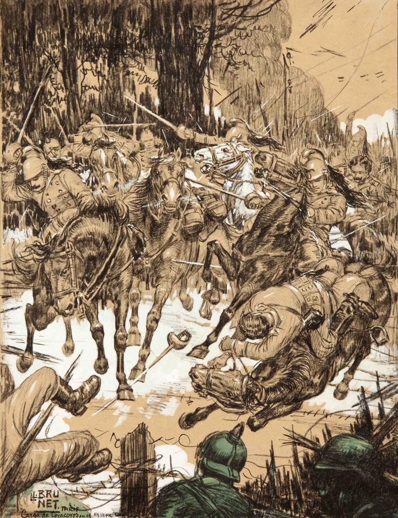 Carga de los coraceros franceses contra los alemanes - París