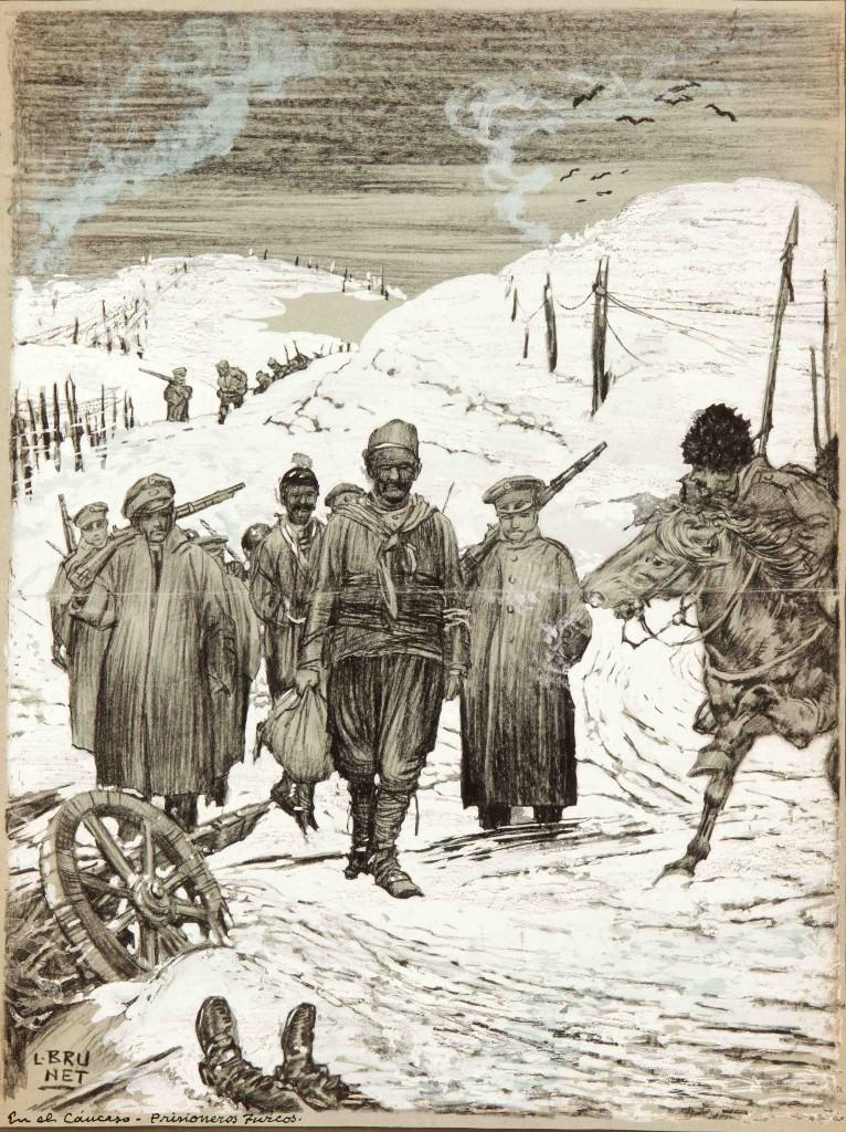El Cáucaso-Prisioneros  turcos