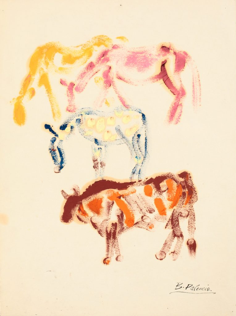 Caballos y toro