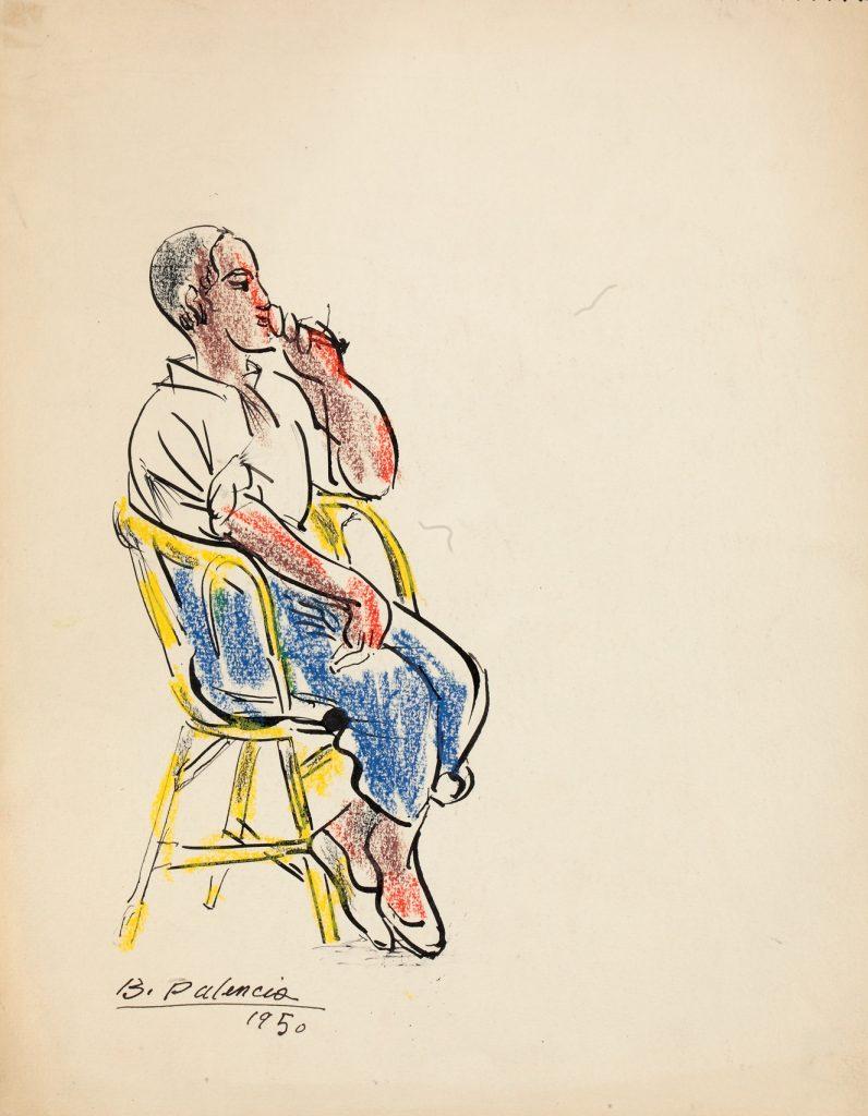 Joven sentado