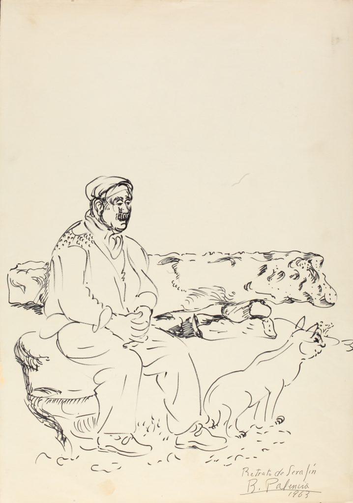 Serafín con gato